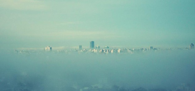 Montevideo y la niebla